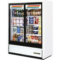 True GDM-41SL-60-LD 47 inch White Convenience Store Glass Door Merchandiser - 19 Cu. Ft.