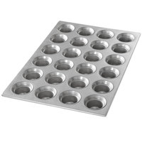 Chicago Metallic 42755 24 Cup 3 oz. Glazed Customizable Mini Crown Muffin Pan