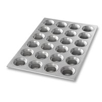 Chicago Metallic 42755 24 Cup 3 oz. Glazed Mini Crown Muffin Pan