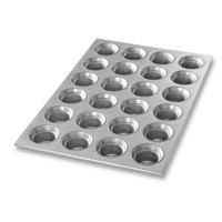 Chicago Metallic 42755 24 Cup 3 oz. Glazed Mini Crown Muffin Pan
