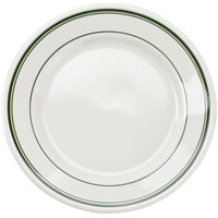 Tuxton TGB-009 Green Bay 9 5/8 inch Wide Rim Rolled Edge China Plate - 24/Case