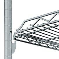 Metro HDM2436Q-DSH qwikSLOT Drop Mat Silver Hammertone Wire Shelf - 24 inch x 36 inch