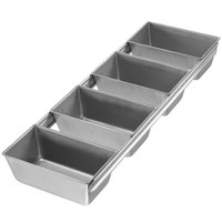 Chicago Metallic 44145 3/8 lb. 4-Strap Open Top Glazed Bread Pan - 5 1/2 inch x 3 inch x 2 3/16 inch