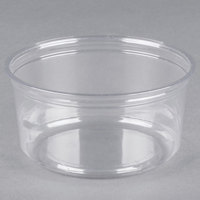 Fabri-Kal Alur RD12 12 oz. Recycled Customizable Clear PET Plastic Round Deli Container - 500/Case