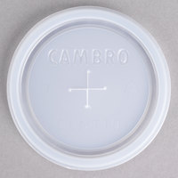 Cambro CLNT10 Disposable Translucent Lid with Straw Slot for 10 oz. Tumblers - 1000/Case