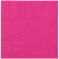 Hoffmaster 180332 Raspberry Pink Beverage / Cocktail Napkin - 1000/Case