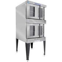 Bakers Pride BPCV-G2 Restaurant Series Liquid Propane Bakery Depth Double Deck Full Size Convection Oven - 180,000 BTU