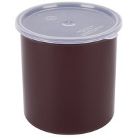 Carlisle 034201 Brown 2.7 Qt. Poly-Tuf Round Crock with Lid