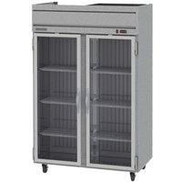 Beverage-Air HR2-1G Horizon Series 52 inch Top Mounted Glass Door Reach-In Refrigerator