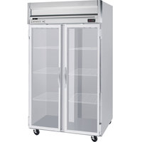 Beverage-Air HR2-1G-LED Horizon Series 52 inch Top Mounted Glass Door Reach-In Refrigerator