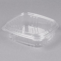 Genpak AD24F 24 oz. Clear Hinged Deli Container with High Dome Lid - 100/Pack