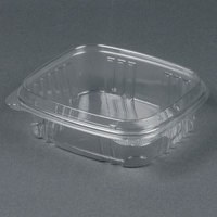 Genpak AD24F 7 1/4 inch x 6 3/8 inch x 2 9/16 inch 24 oz. Clear Hinged Deli Container with High Dome Lid - 100/Pack