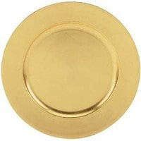 Tabletop Classics TRG-6651 13 inch Gold Leaf Round Polypropylene Charger Plate
