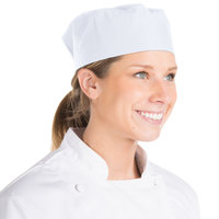 Chef Revival 20 inch-22 inch White Pill Box Chef Hat / Skull Cap