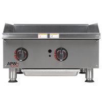 APW Wyott GGM-24i 24 inch Countertop Griddle - 50,000 BTU