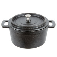 American Metalcraft CIPR5526 5 1/2 inch Round Cast Iron Mini Pot