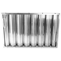 All Points 26-3895 16 inch(H) x 25 inch(W) x 2 inch(T); Stainless Steel Hood Filter - Ridged Baffles