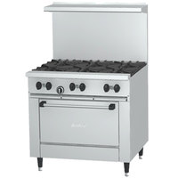Garland SunFire Series X36-2G24R Liquid Propane 2 Burner Gas Range with 24 inch Griddle and Standard Oven
