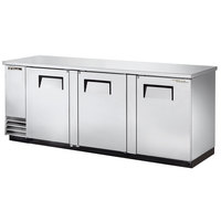 True TBB-4PT-S 90 inch Stainless Steel Pass-Through Back Bar Refrigerator