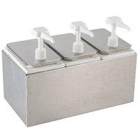 Carlisle 38503 7.5 Qt. Condiment Dispenser Rail with 3 Standard Pumps