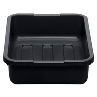 Cambro 21155CBP110 Cambox 21 inch x 15 inch x 5 inch Black Polyethylene Plastic Bus Box with Ribbed Bottom