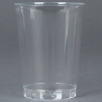 Fineline Savvi Serve 410-CL 10 oz. Tall Clear Hard Plastic Tumbler - 20/Pack
