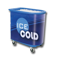 Blue Server Elite Deepcore 5073 Portable Insulated Ice Bin / Beverage Cooler / Merchandiser with Cash Drawer and Tray 100 Qt.