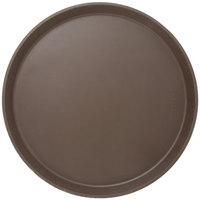 Cambro 1400CT138 Camtread® 14 inch Round Tavern Tan Non-Skid Serving Tray - 12/Case