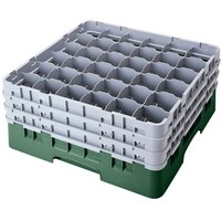 Cambro 36S900119 Sherwood Green Camrack Customizable 36 Compartment 9 3/8 inch Glass Rack