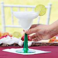 Fineline Flairware 2312-GRN 12 oz. 2-Piece Plastic Margarita with Green Base   - 96/Case