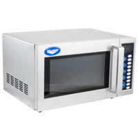 Vollrath 40819 Stainless Steel Commercial Microwave Oven with Digital Controls - 120V, 1000W