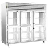 Traulsen RHT332WPUT-HHG Stainless Steel Three Section Glass Half Door Pass-Through Refrigerator - Specification Line