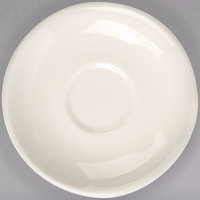 Homer Laughlin by Steelite International HL28200 6 inch Ivory (American White) Narrow Rim China Boston Saucer - 36/Case