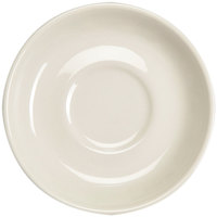 Homer Laughlin 28200 6 inch Ivory (American White) Narrow Rim China Boston Saucer - 36/Case
