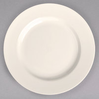 Homer Laughlin 44400 10 5/8 inch Ivory (American White) Rolled Edge China Plate - 12/Case