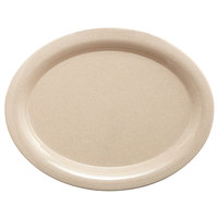 GET BAM-1135 BambooMel 13 1/2 inch x 10 1/4 inch Oval Platter - 12/Case
