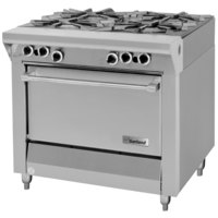 Garland M44R Master Series Natural Gas 4 Burner 34 inch Range with Standard Oven - 180,000 BTU