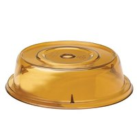Cambro 1202CW153 Camwear Amber Camcover 12 1/8 inch Plate Cover - 12/Case