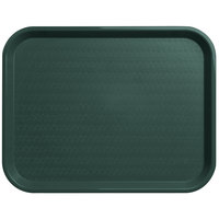 Carlisle CT141808 Customizable Cafe 14 inch x 18 inch Forest Green Standard Plastic Fast Food Tray - 12/Case