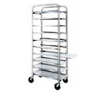 Winholt SS-1210 End Load Stainless Steel Platter Cart - Ten 12 inch Trays