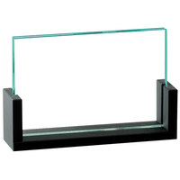 Cal-Mil 1510-32 U-Frame 3 1/2 inch x 2 inch Black Displayette