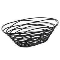 American Metalcraft FRUB18 Oval Black Birdnest Basket - 9 inch x 6 inch x 3 inch
