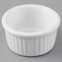 Greenware by Tuxton BWX-0252 White 2.5 oz. Fluted Ramekin - 48/Case