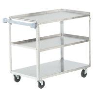 Vollrath 97140 Stainless Steel 3 Shelf Utility Cart - 39 1/2 inch x 21 inch x 33 1/4 inch