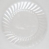 WNA Comet CW6180 Classicware 6 inch Clear Plastic Plate - 18 / Pack