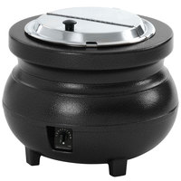 Vollrath 72170 Colonial 7 Qt. Black Kettle Soup Warmer / Merchandiser - 120V