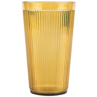 Carlisle 401613 Crystalon Stack-All 16.2 oz. Amber SAN Plastic Tumbler - 12/Case