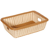 GET WB-1516-TT Designer Polyweave 22 inch x 15 1/2 inch x 6 inch Two-Tone Rectangular Plastic Basket - 6/Pack