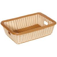GET WB-1516-TT Designer Polyweave Plastic Rectangular Basket 22 inch x 15 1/2 inch x 6 inch - 6/Pack