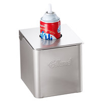 Edlund CSR-016W Stainless Steel 1/6 Size Cold Food Pan with White Insert, Lid, and Lid Hole